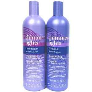 Clairol Shimmer Lights product bottles.