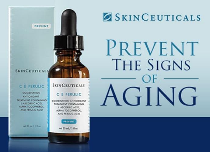 Skinceuticals advertisement.