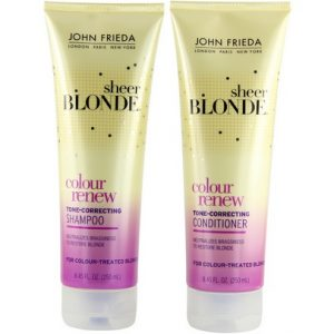 John Frieda Colour Renew product bottles.