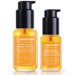 Ole Henriksen's Truth Serum Collagen Booster product bottles.