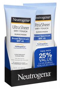Neutrogena's ultra sheer dry-touch sunscreen.
