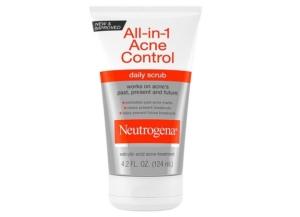 All-in-1 acne control daily scrub.