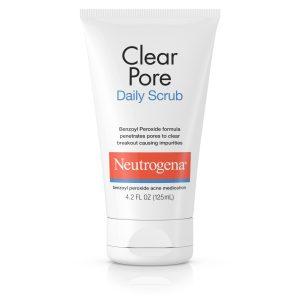 Neutrogena's clear pore daily scrub.