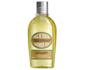 L'Occitane almond shower oil.