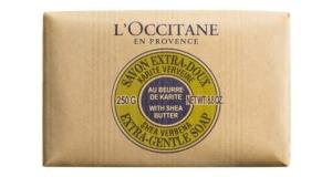 L'Occitane shea butter verbena soap.