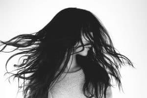 Woman with long dark hair