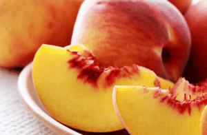 Sliced apricots.