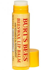 Burt's Bees Beeswax Lip Balm packaging.