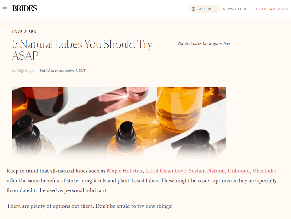 Natural Lubes