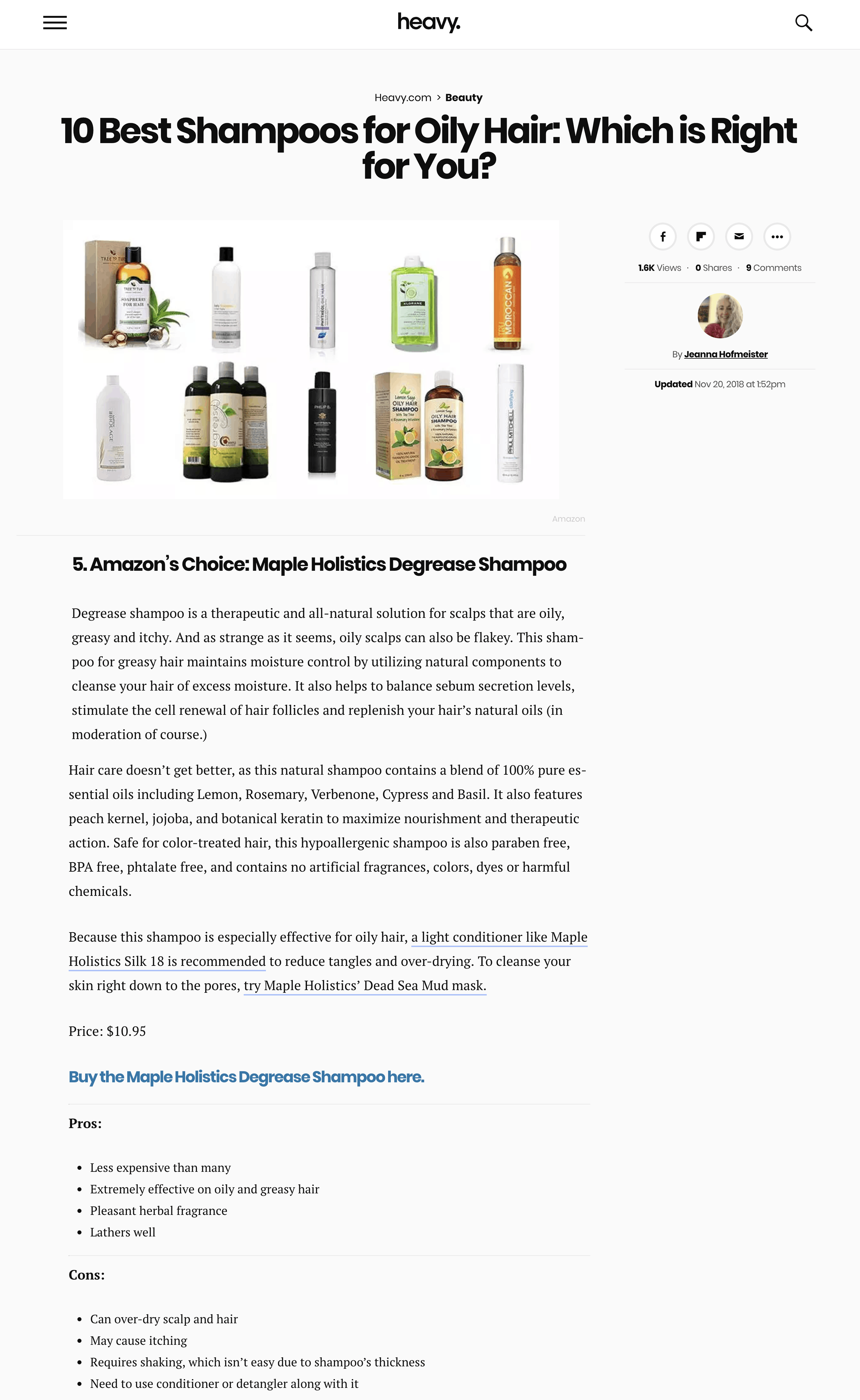best shampoos list