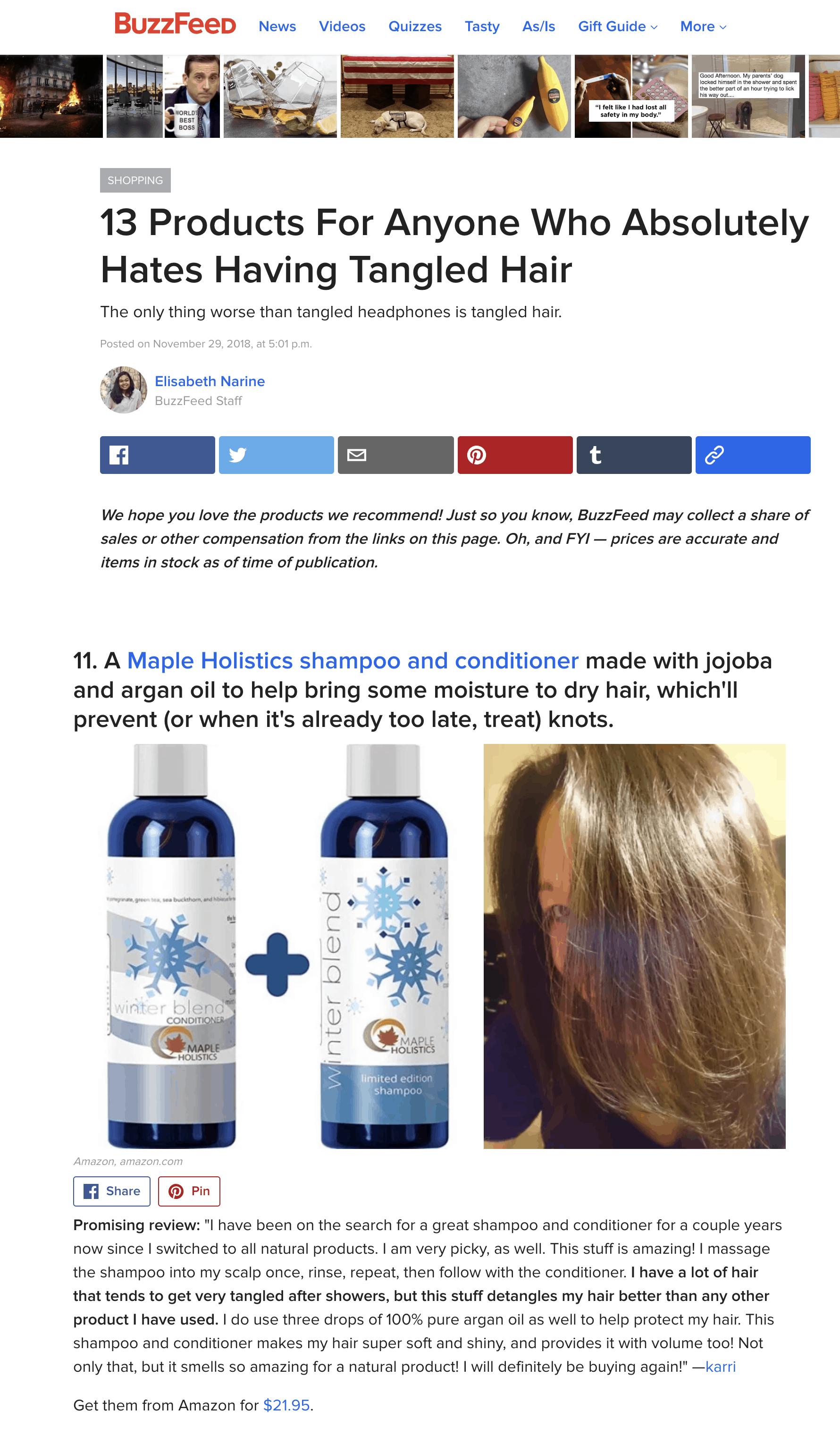 Tangled Hair Shampoo