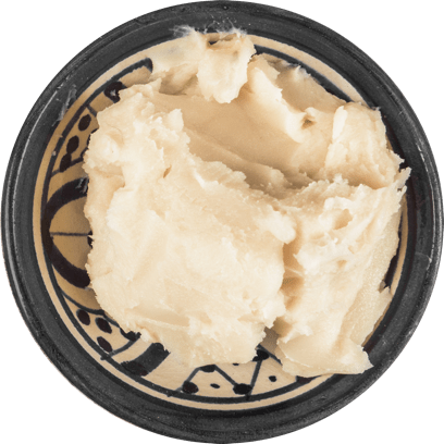 Shea butter in a bowl.