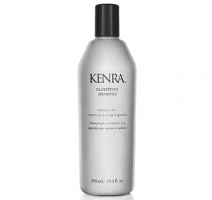 Bottle of Kenra clarifying shampoo.