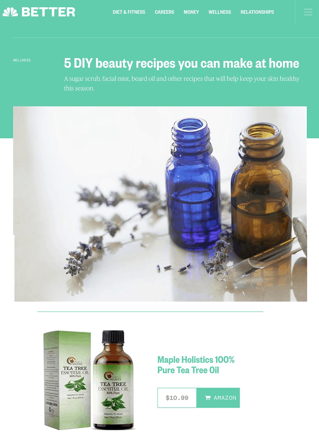 DIY beauty ingredients