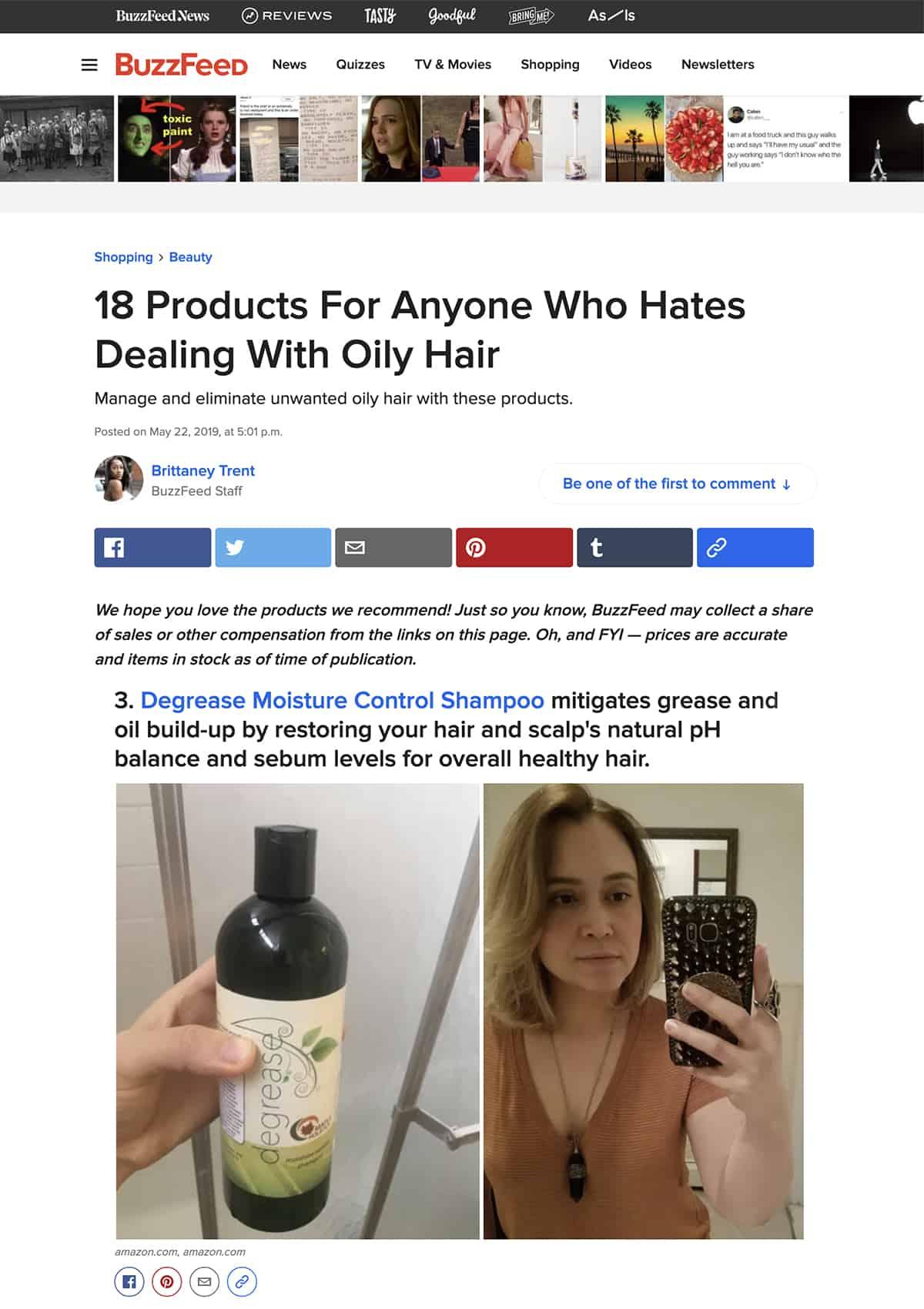 buzzfeed degrease shampoo