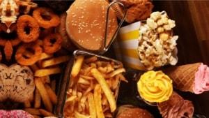high calorie junk food
