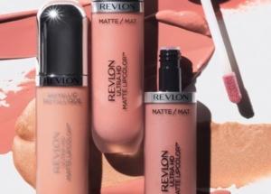 Nude lip color Revlon HD lipsticks.