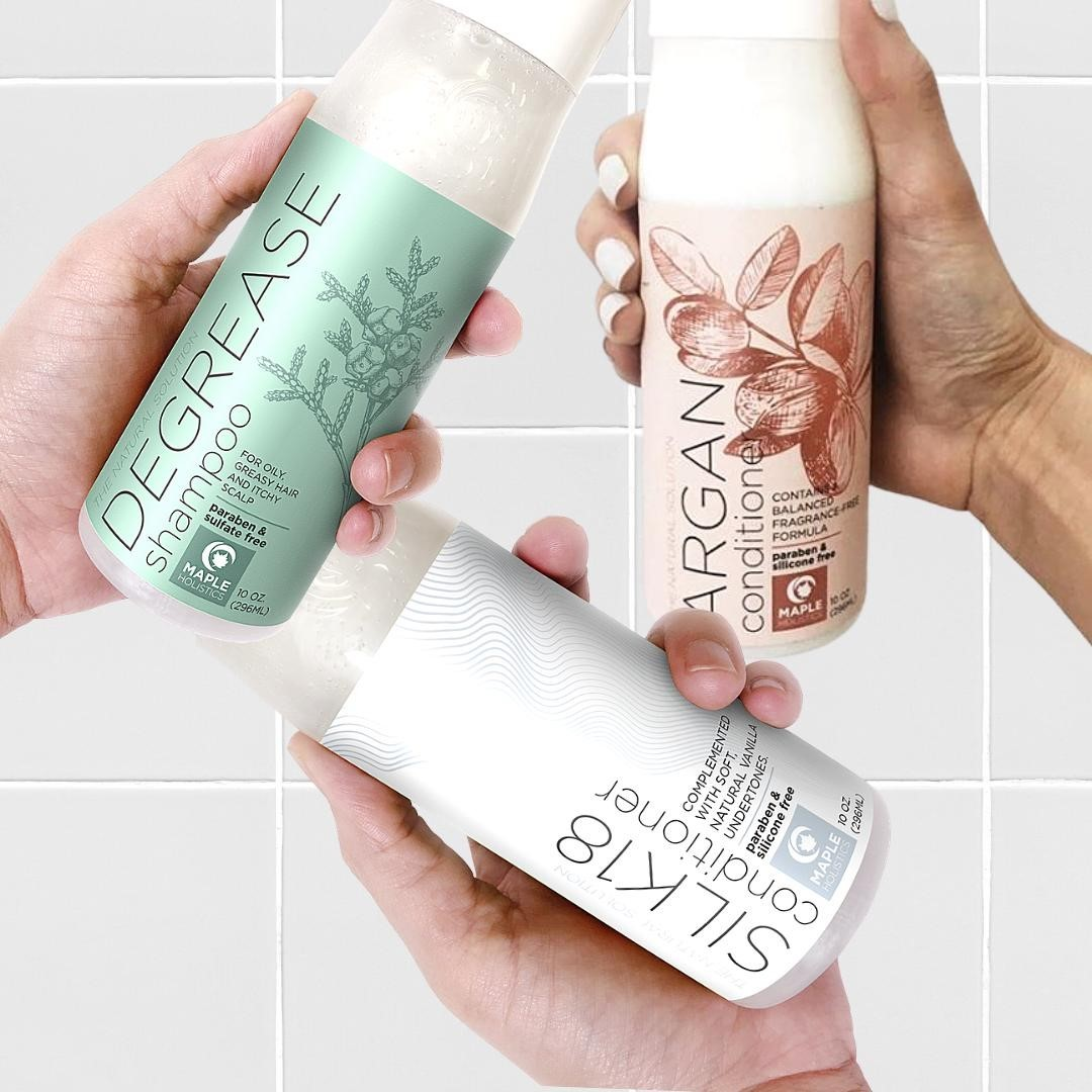 Grease-free?🍃 Hydrate?💦 Silky-soft?✨ Personalize your hair care routine with our diverse range of shampoos and conditioners carefully designed with botanicals to suit your hair's UNIQUE needs🥰🥰 COMMENT BELOW your fave👇👇 Link in bio!!💖 * * * #longhairdontcare #haircare #curlyhair #perfectcurls #hair #shinyhair #naturalhair #naturalhairstyles #amazingnaturalhair #naturalhairrules #healthyhair #mapleholistics #FoundItOnAmazon