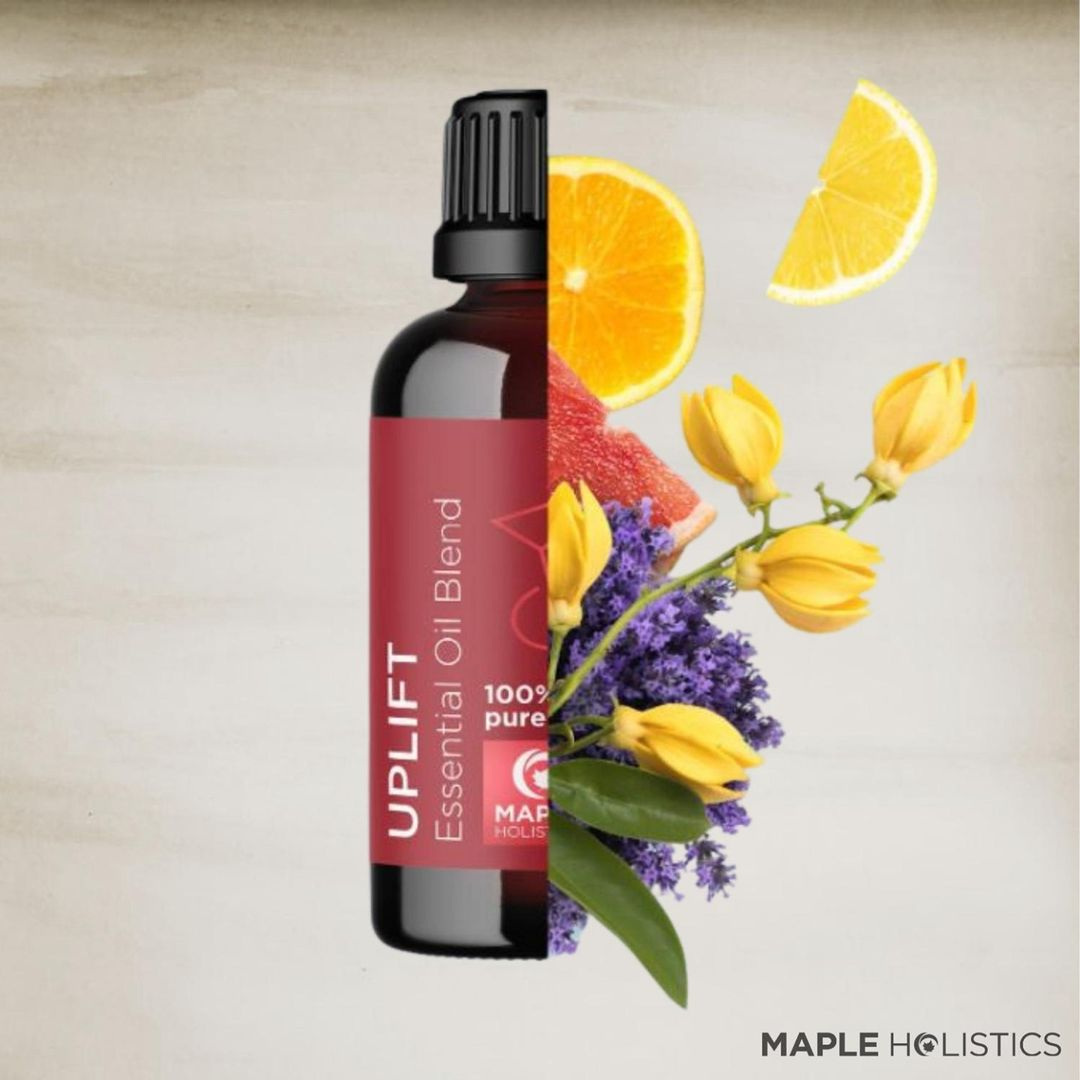 Grey skies got you down? We've got you covered with our UPLIFT BLEND💐 A harmonious blend of pure essential oils boost your mood with the help of Mother Nature🍃 Link in bio💞💞 * * * #essentialoilblends #essentialoilblend #oilblends #essentialoils #essentialoillove #essentialoilsforlife #essentialoilsforhealing #diffuser #diffuserblends #diffusers #ylangylang #pureessentialoils #lemonessentialoil #mapleholistics #FoundItOnAmazon